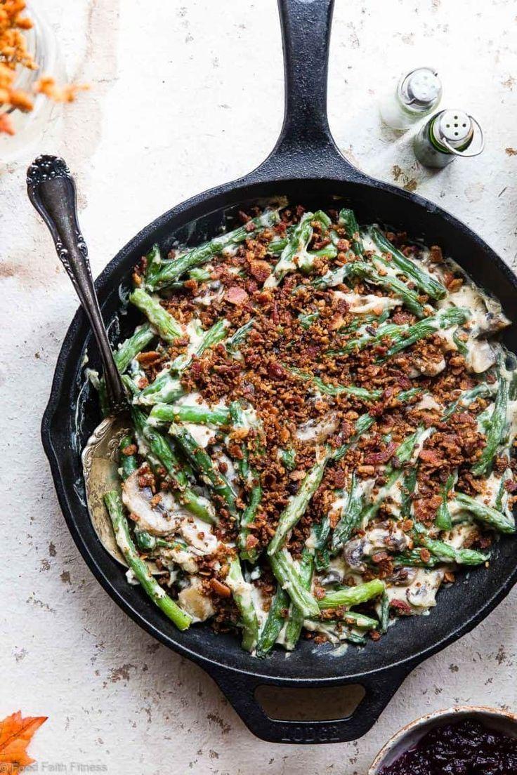 Low carb keto green bean casserole food faith fitness