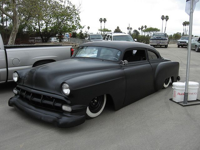 1954 Chevy chopped, channeled, bagged, nosed, decked, shaved, and frenched... AWESOME!!!