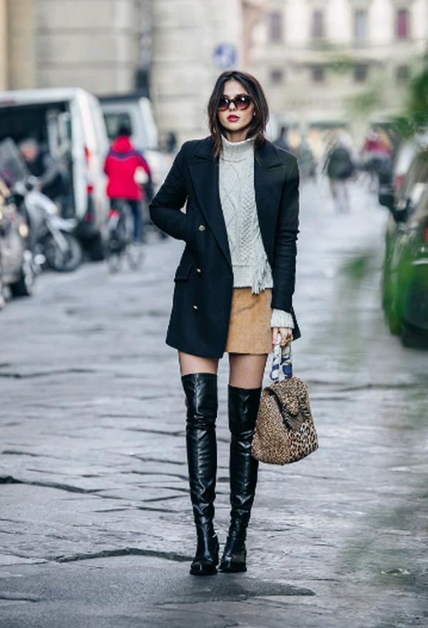 Botas De Invierno Juveniles Preppy Winter Outfits Thigh High Boots Outfit Fashion
