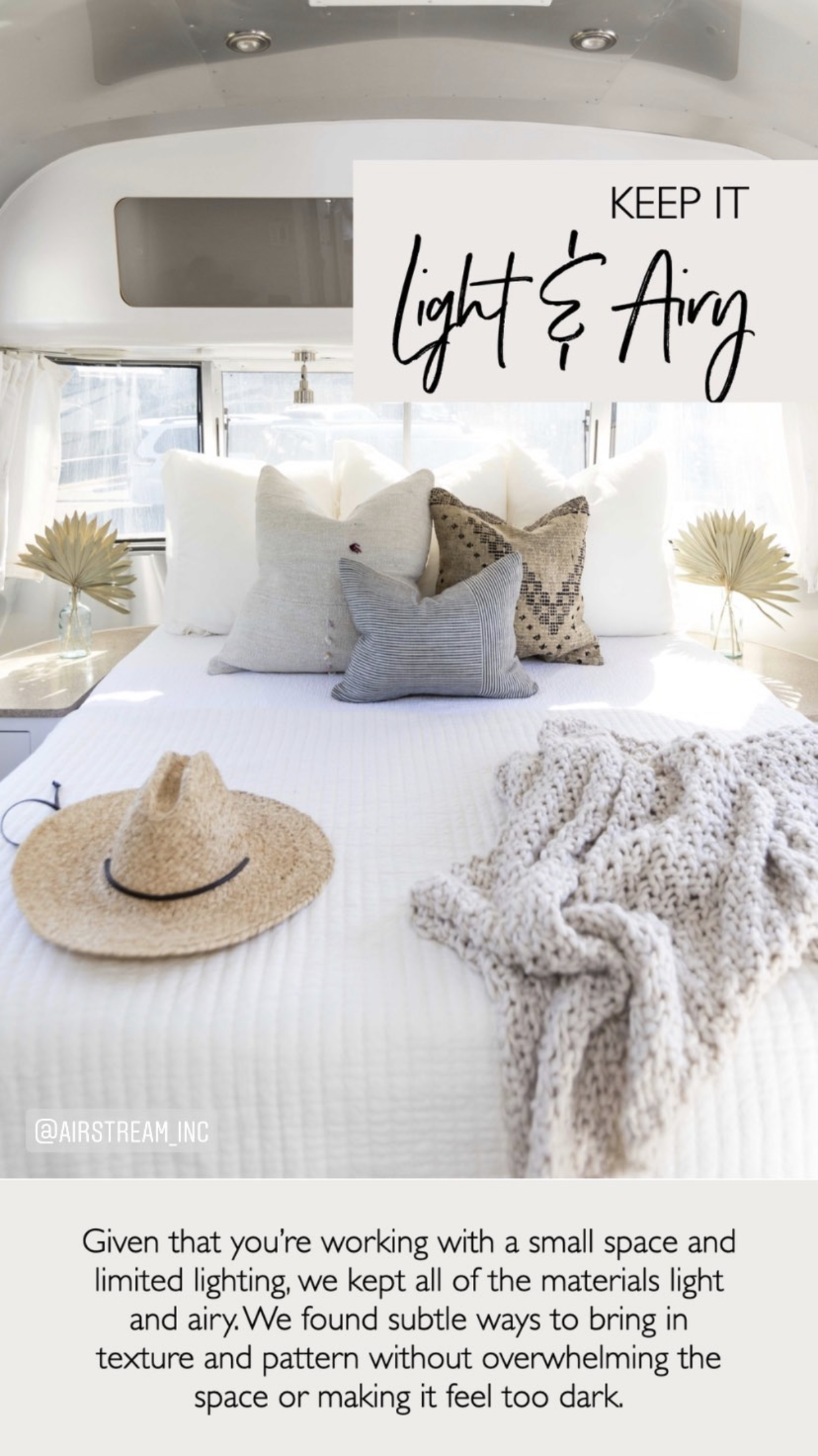 Airstream Styling | INTERIOR DESIGN TIPS AND TRICK | #DesignTips #InteriorDesign #InteriorDesignTips #Tips #DecorTips #DesignGuide #InteriorDesignGuide #HomeDecor #AirstreamStyling