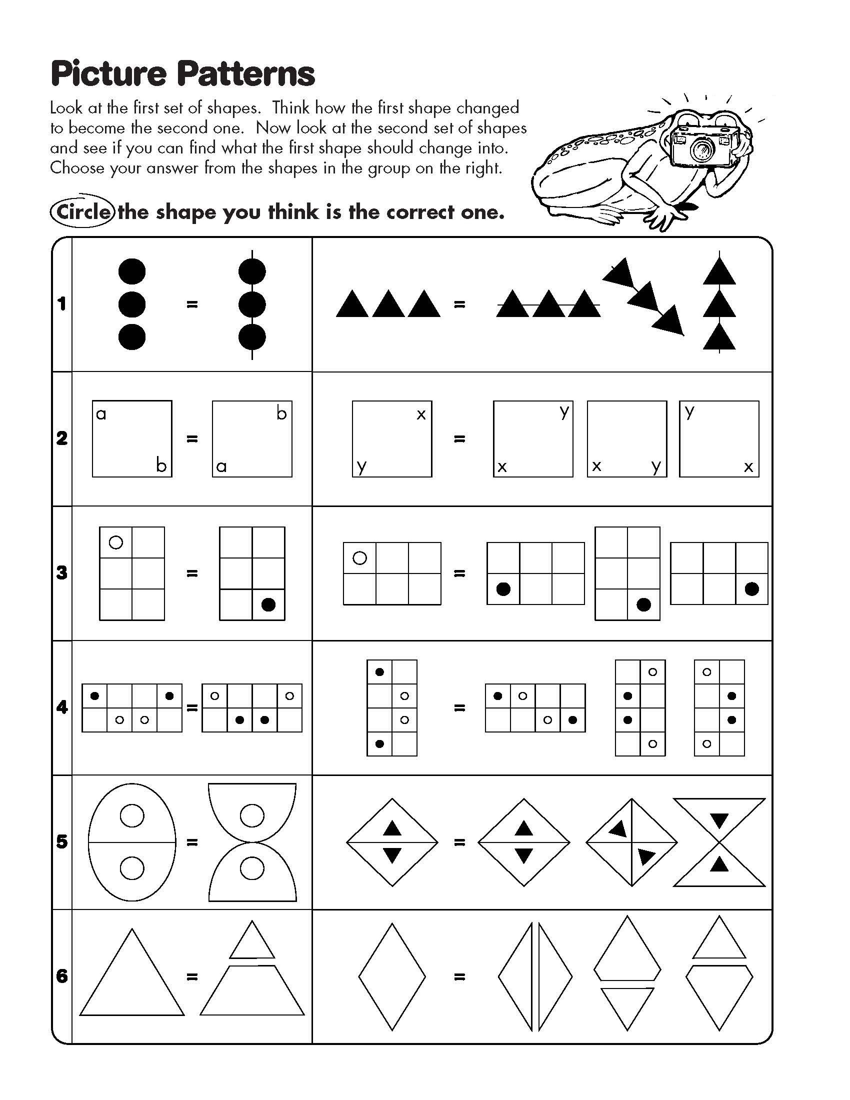 Math Analogies Worksheets Learn Math Online Math Pattern Worksheet