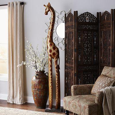 Golden Wooden Giraffe Threes Company Pinterest