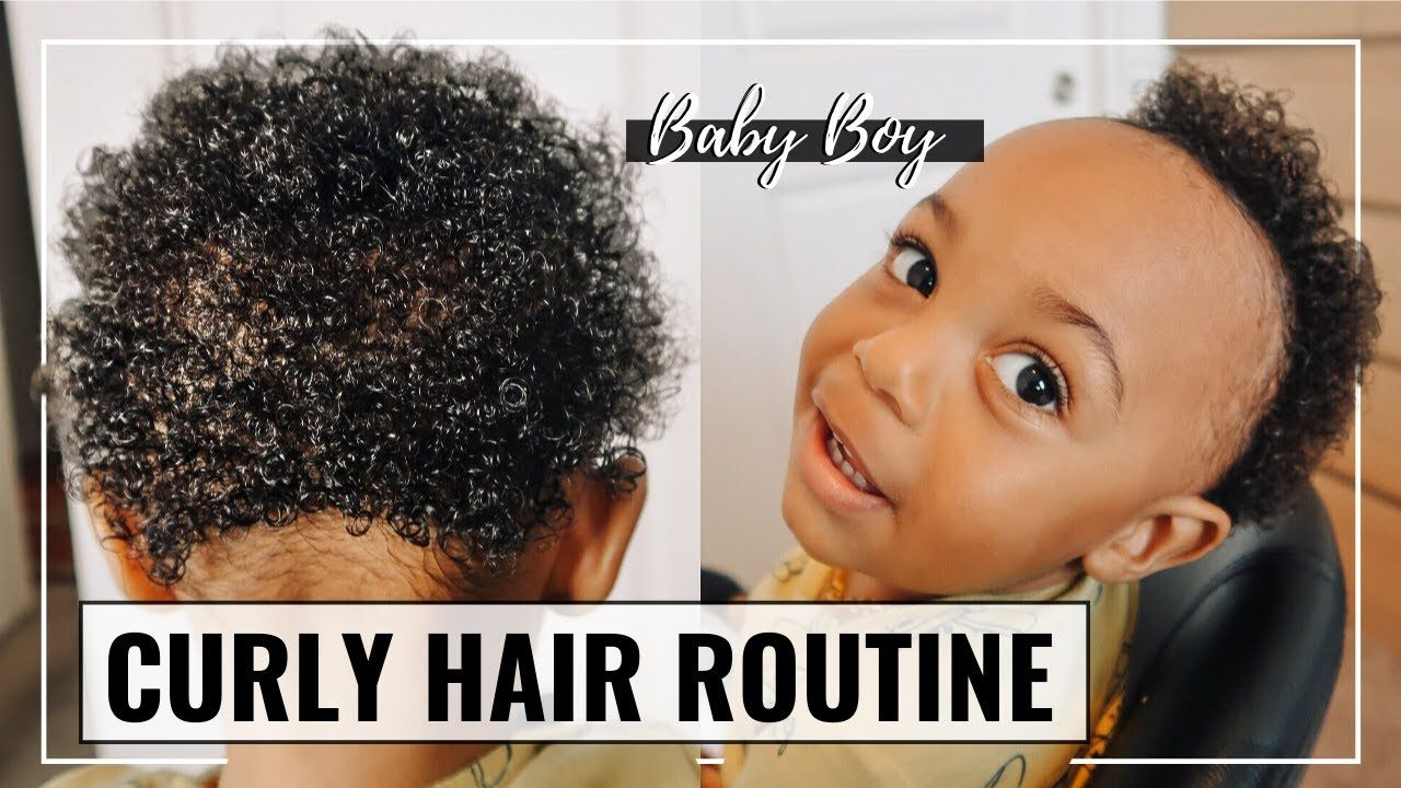 Baby Boy Natural Curly Hair Routine African American Baby Hair Care B In 2020 Boys With Curly Hair Hair Routines African American Hair Care