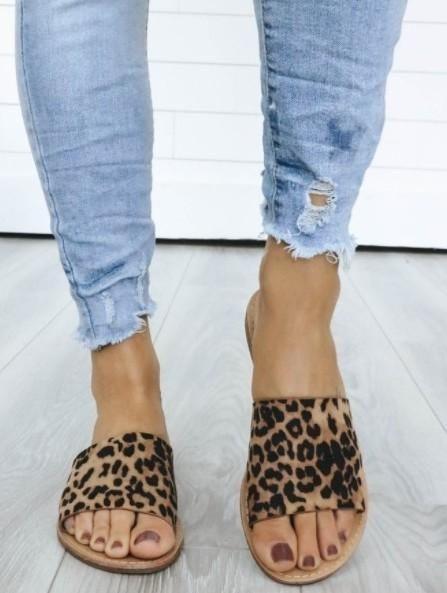 Leopard Print Sandal | Printed sandals