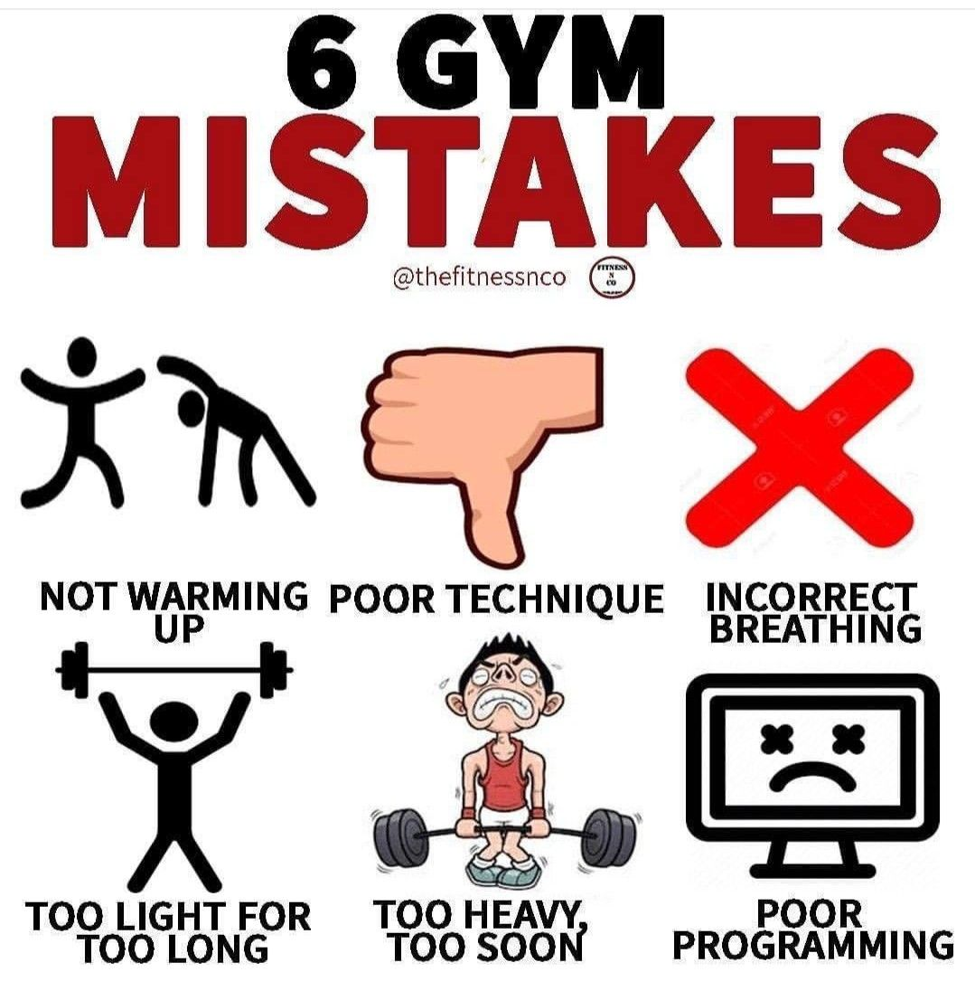 Pin by hod hod on fitness in 2020 common gym mistakes