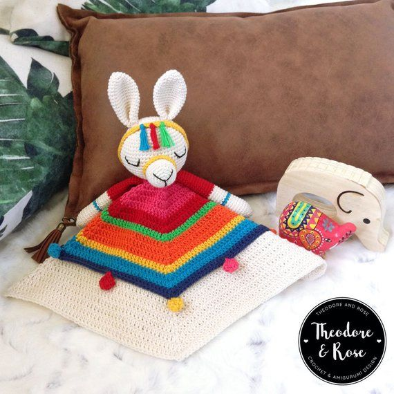 Lovey Crochet Patterns {Cute security blankets for your baby!} #securityblankets