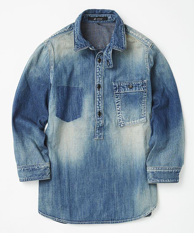 ルードデニムプルオーバーシャツ