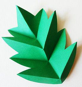origami leaf