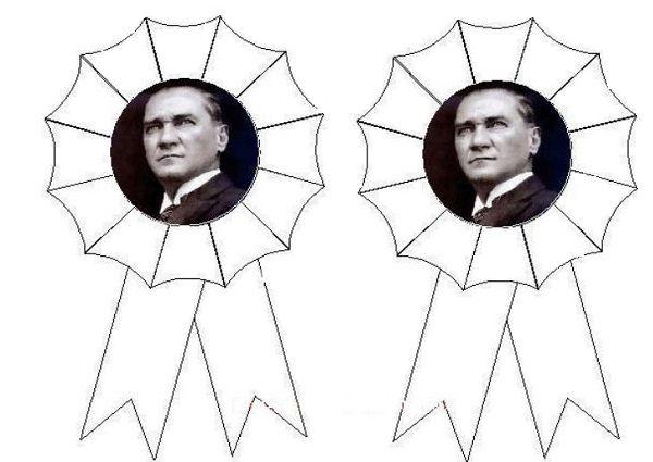 Atatürk Rozeti Boyama Gazetesujin