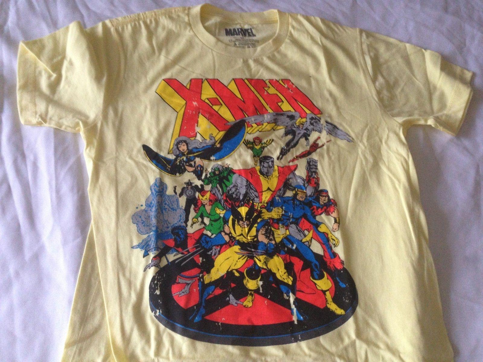 8aaff17d Marvel x Men Throwback Retro Classic Vintage T Shirt Cyclops Storm  Wolverine | eBay