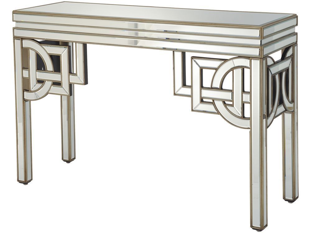 This Mirrored Console Table Is Clic Art Deco With Its Angular Detailing And Luxurious Gold Etched Sides Artdeco Homedecor