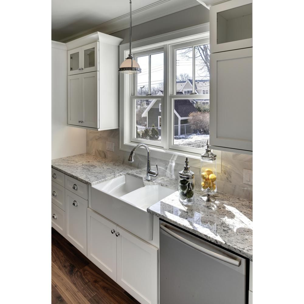 Andersen 23 5 In X 35 5 In 200 Series Double Hung Wood Window With White Exterior Dh2030 T Kitchen Cabinet Design Design Your Kitchen Modern Kitchen Design