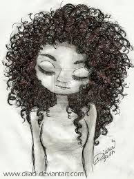 Resultado De Imagem Para Menina Cabelo Cacheado Desenho Meninas