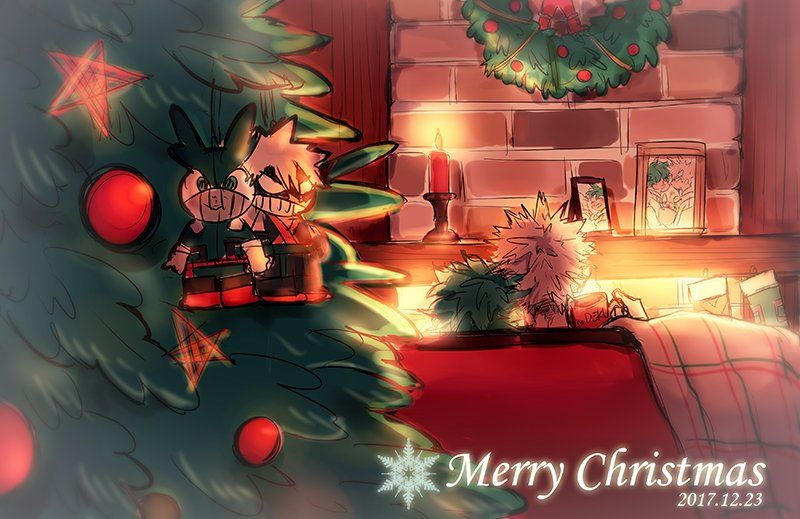 Characters Midoriya Izuku Katsuki Bakugou Merry Christmas Anime Christmas Christmas Wallpaper Anime Dragon Ball Super