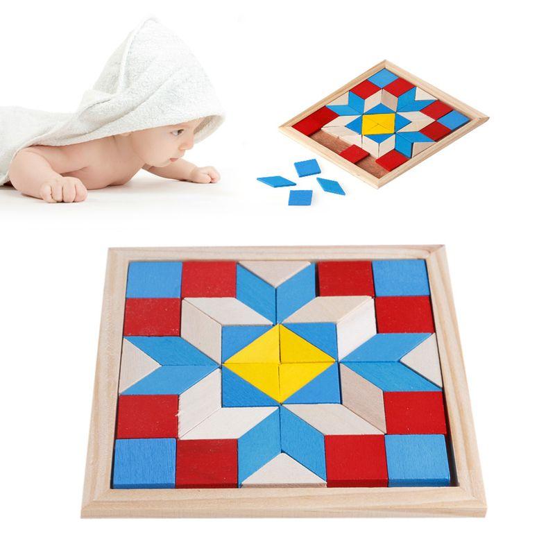 Geometry Tangrams Logic Brain Training Games IQ Wooden