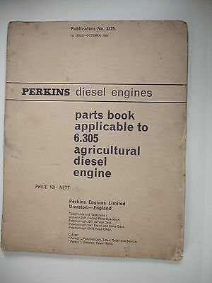 Perkins agricultural diesel #engines 6305 1st issue #parts book