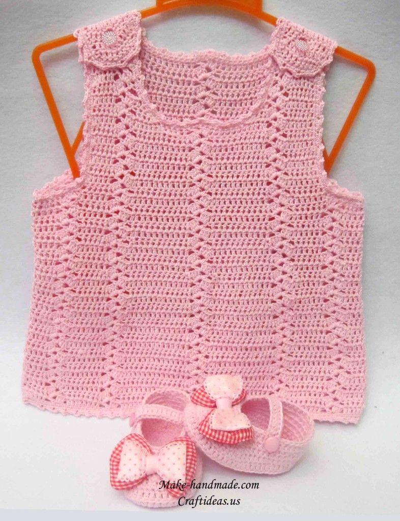 Crochet baby summer dress vestidos accesorios y ms de bebs crochet baby summer dress bankloansurffo Gallery