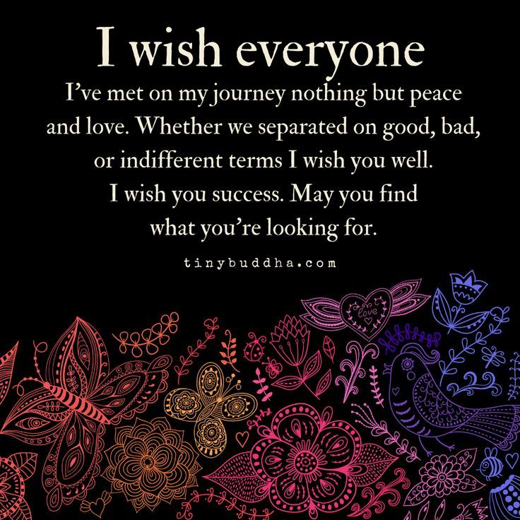 I Wish Everyone Ive Met on My Journey Peace and Love