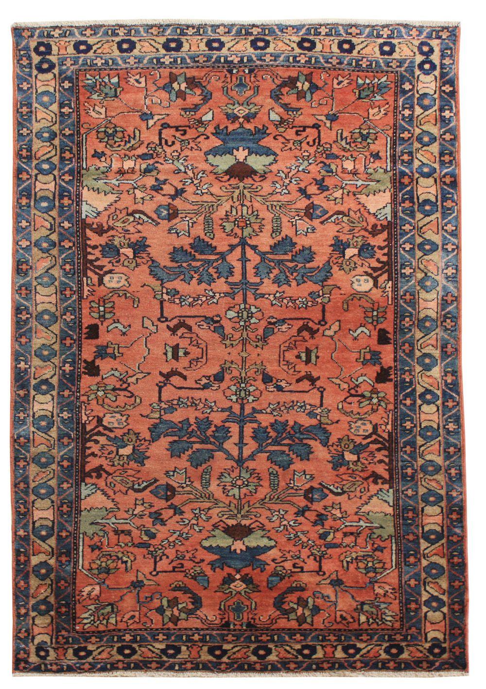 Cod. 7872 Lilian antico 150x105, tappeto persiano, antique
