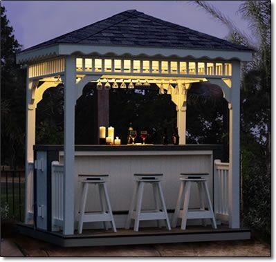 Backyard Gazebo Bar Outdoor Bar Gazebo Outdoor Patio Bar Grill Gazebo Pool  Deck Bbq Party