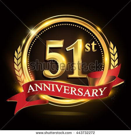 51st Golden Anniversary Logo 51 Years Anniversary Celebration