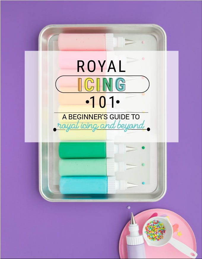 How To Make Royal Icing + Color and Thin! - Royal Icing 101