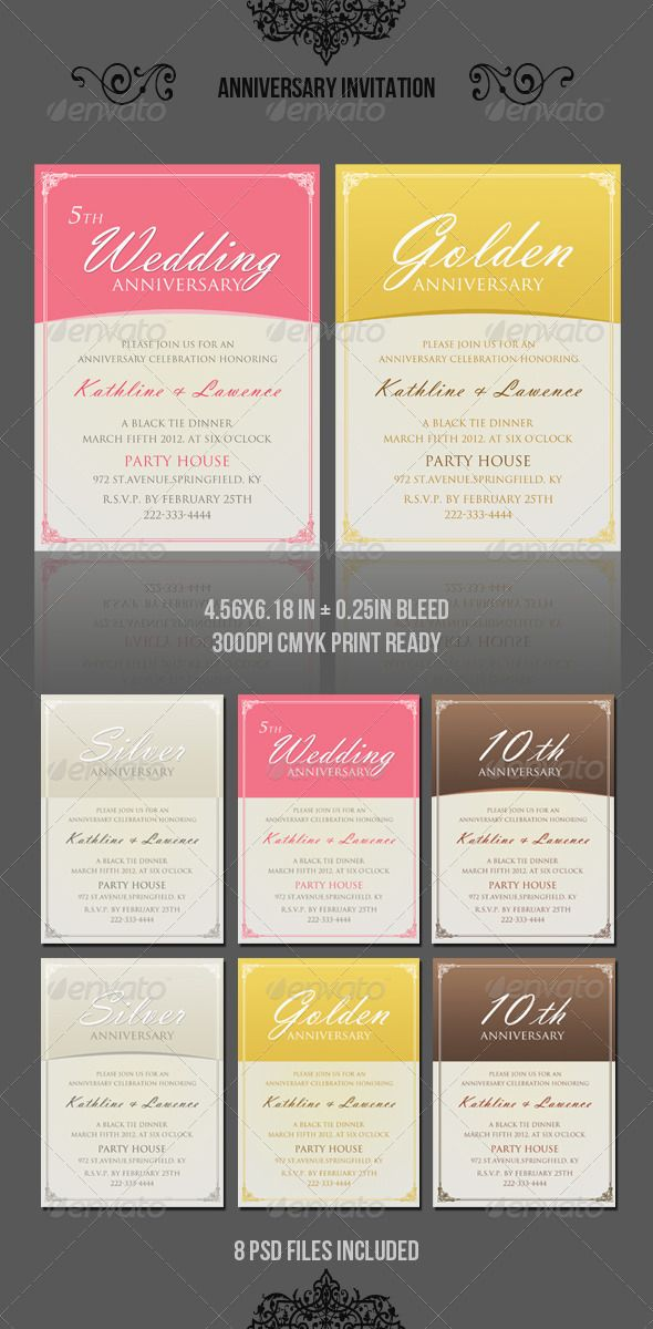 Anniversary Invitation Template_vol03 Anniversary invitations - anniversary invitation