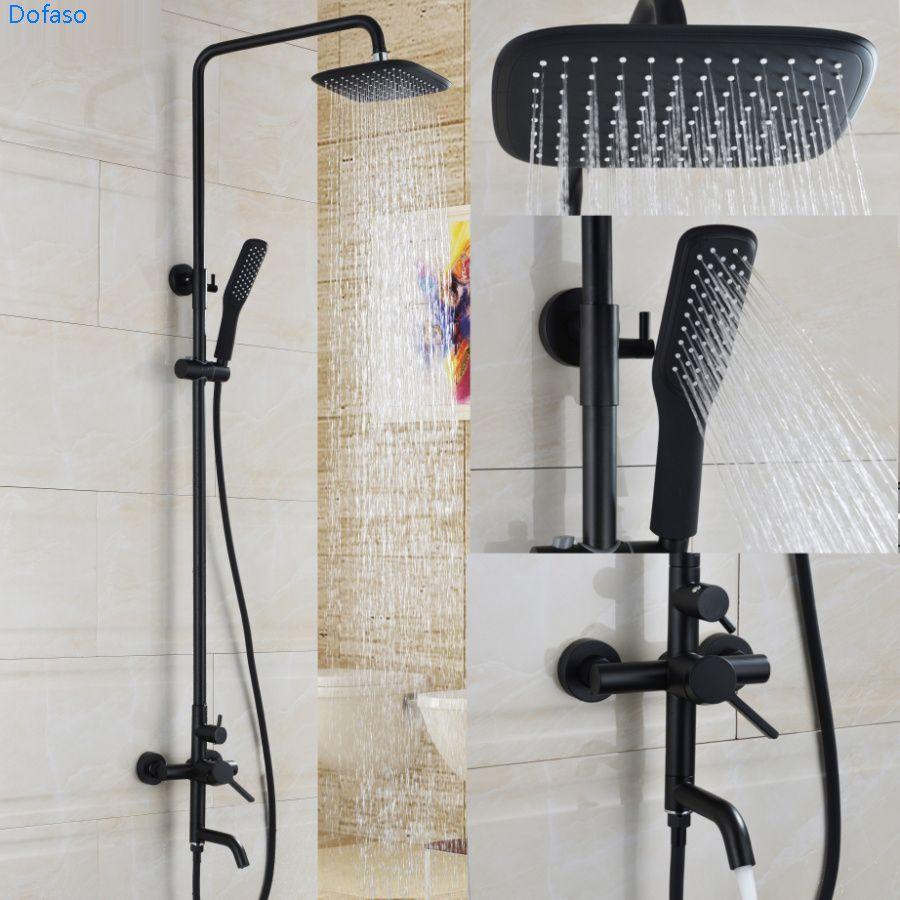 Dofaso oil shower black set bath tap set shower Bathroom Waterfall ...