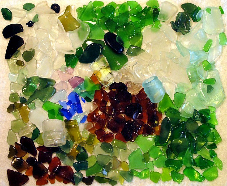 Sea Glass I found in Eleuthera Bahamas
