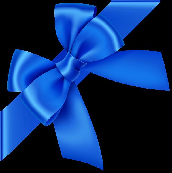 Blue Corner Bow Transparent Clip Art Image Clip Art Art Images Free Clip Art