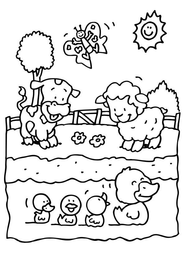 Kleurplaten Lente Groep 6.Kleurplaat Lente Lente