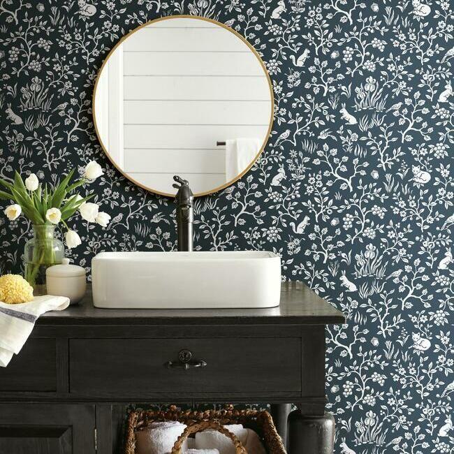 Fox Hare Premium Peel And Stick Wallpaper Stripped Wallpaper Magnolia Homes Home Wallpaper