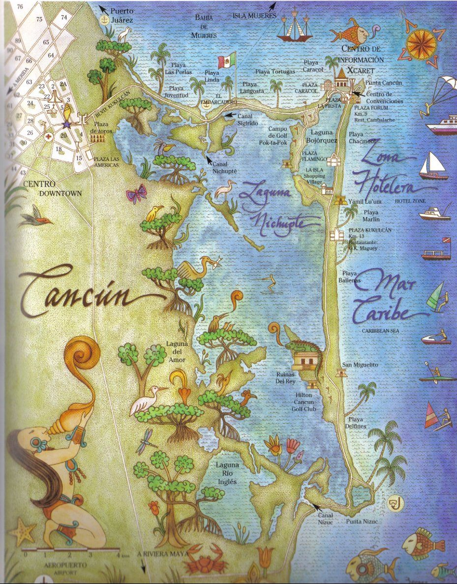 map of cancun mexico related links