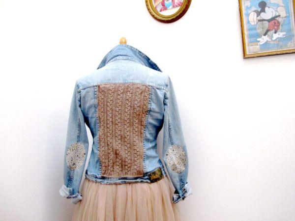 customiser une veste en jean 10 id es customisation pinterest vestes en jean veste jean. Black Bedroom Furniture Sets. Home Design Ideas
