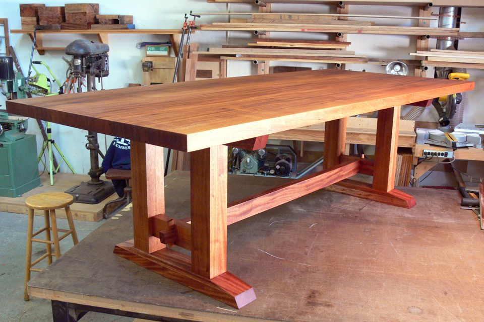 Offerman Woodshop 187 Mahogany Dining Table Wood Wire
