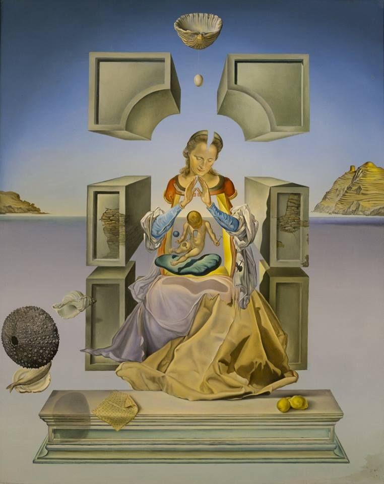 Salvador Dalí - Madonna of Port Lligat, 1949 #arte