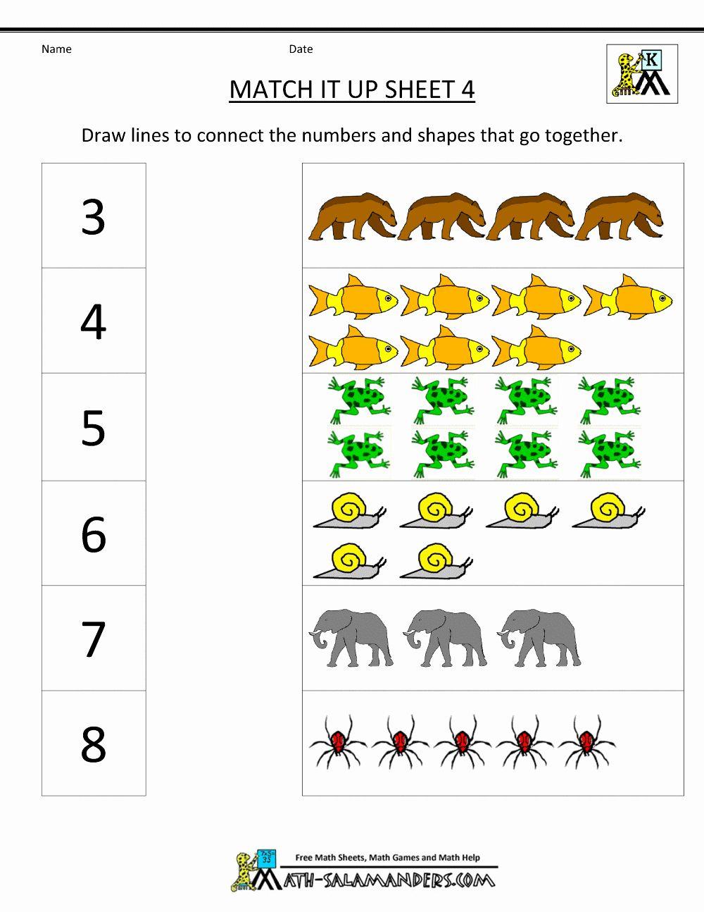 Worksheet Math For Preschool Belajar Ejaan Buku Matematika