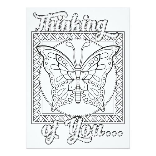 Thinking Of You Coloring Pages