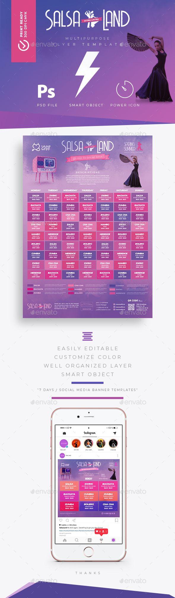 dance class timetable schedule templates best event flyer