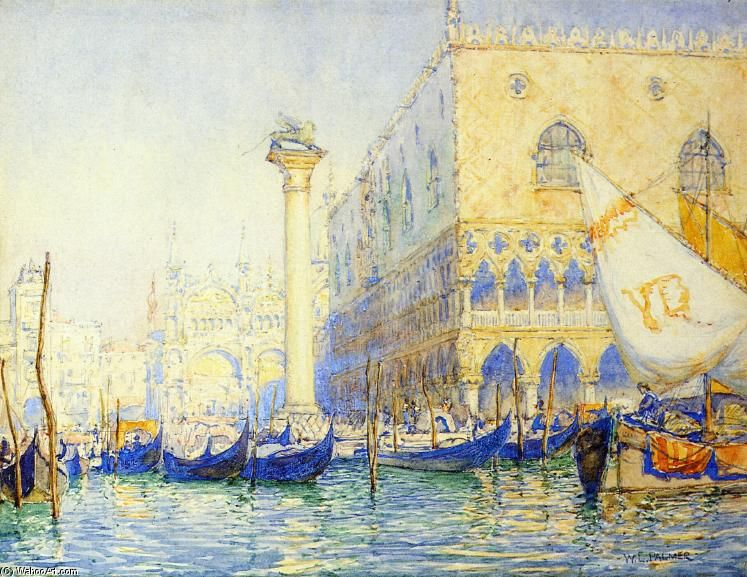 Venise, aquarelle de Walter Launt Palmer (1854-1932, United States)