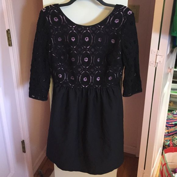 Black and Purple Dress In perfect condition! Very comfortable Dresses
