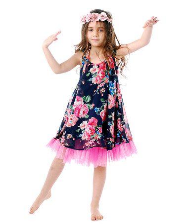 Another great find on #zulily! Blue & Pink Candy Dress - Toddler & Girls #zulilyfinds