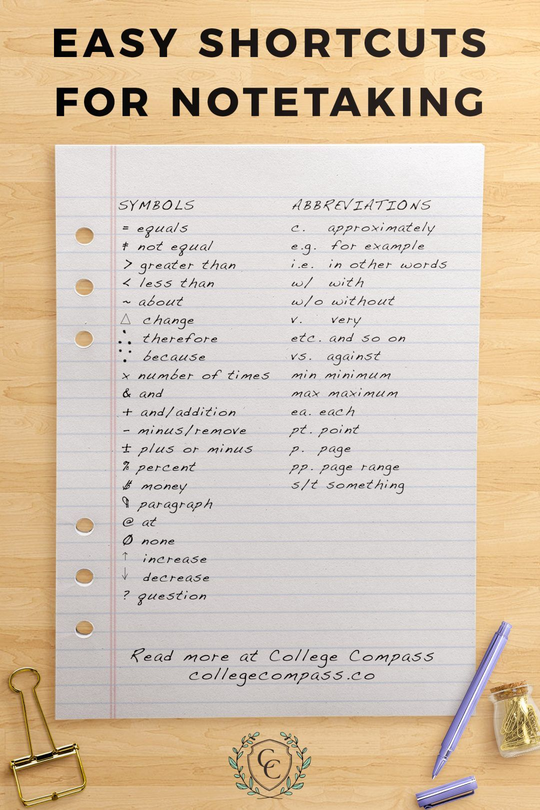 How to Take Cornell Notes (Plus a Free Worksheet Pack!) | College Compass