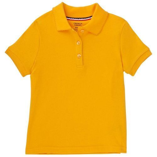54ed31c2817 French Toast Girls  Plus Size Polo Shirt With Picot Collar (Gold ...
