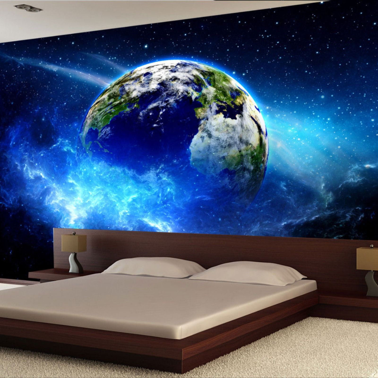 Planet In Space Wall Mural Photo Wallpaper Giant Decor Paper Poster Free Paste Giants Decor Wall Murals Photo Wallpaper