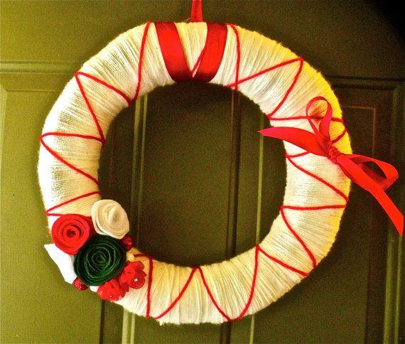 Yarnwrapped Christmas Holiday Wreath