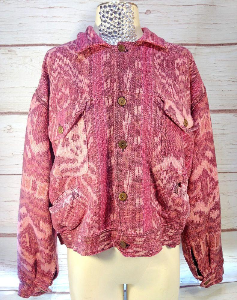 29541f8690343 Cinch Button Down Shirt Long Sleeve Pink Striped Mens Large  Cinch   ButtonDown