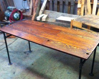 Industrial Schreibtisch scheune holz tanne und cast iron pipe schreibtisch pipe industrial