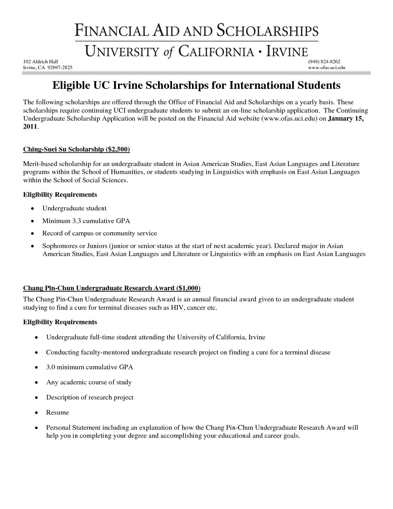 high school cover letter uc