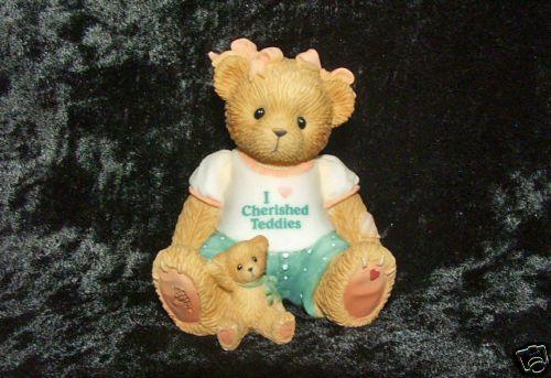 Cherished Teddies Theres Always Thyme for Gardening Herb Garden Bear Figurine